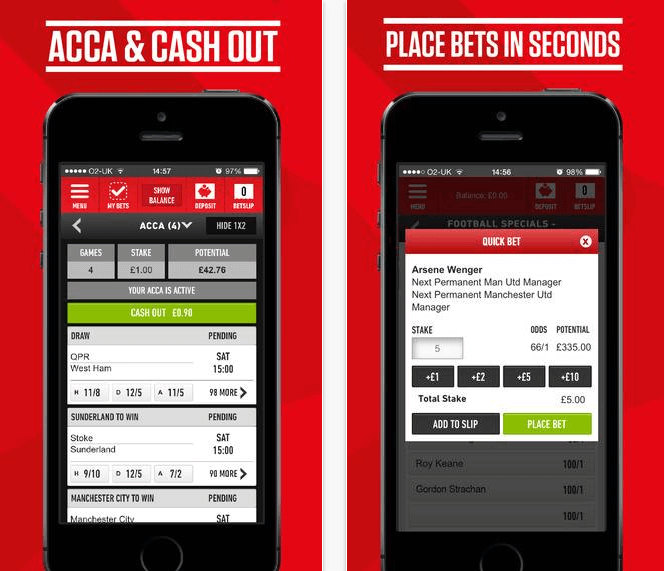 Here is a screenshot of the Sportsbook app