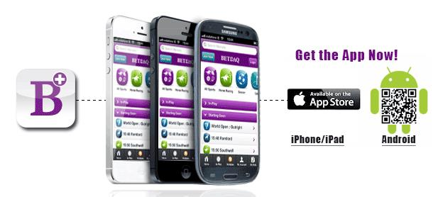 Screenshot betdaq app for android and iphone