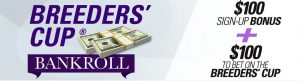 Breeders' cup bankroll sign up bonus