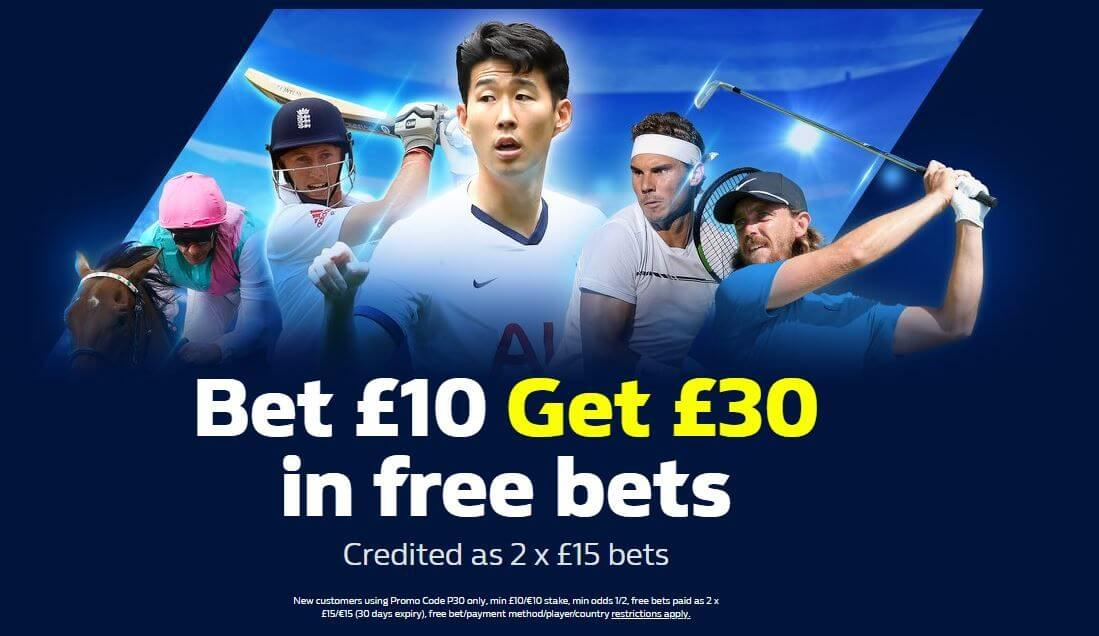 William Hill Promo Code: Bet £10 & Get £30 In Free Bets